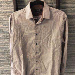 Zara Man Tailored Fit. Long Sleeve Collared Shirt